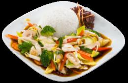 Smażony kurczak Chop-suey z warzywami
