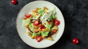 Салат з гарбузом та корнеплодами (265г)
