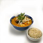 Curry tailandés de tofu y verduras