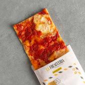 Tre pezzi di Pizzata Pomodoro e Stracchino