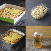 Піца М'ясна (480г)+Гратен (260г)+Салат Столичний (165г)+Лимонад(500г)