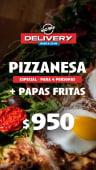 Pizzanesa especial + papas fritas