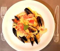 Spaghetti w/ seafood
