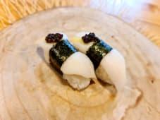 Nigiri de pez mantequilla flambeado (2 uds.)