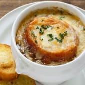 Цибулевий суп з грінками під сиром (300г)