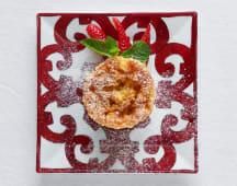 Tortino di mele, ricotta e cannella al grano saraceno