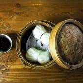 Hakao langostinos y bambú