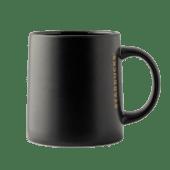 Cană ceramică neagră 10 oz