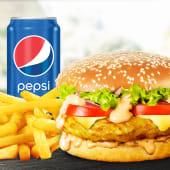 Meniu Mediu Cheeseburger de pui