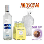Pack Moscow Mule: Russkaya + Four Pack Mr Perkins Ginger Beer