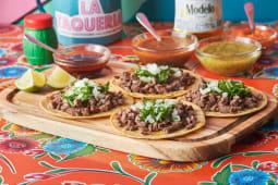 Tacos con bistec (4 uds.)