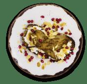 Pear and lemon ricotta