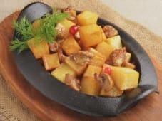 Смажена картопля з грибочками (230г)