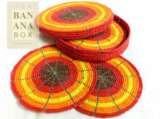 Beaded drink coasters