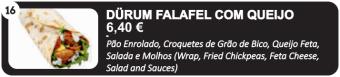 Dürun Falafel com Queijo