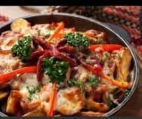 Гаряча пательня з домашньою ковбаскою (550г)