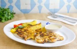 Pollo a la griega
