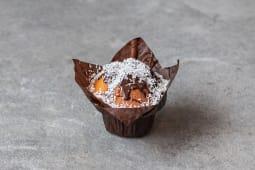 Muffin czekoladowo-kokosowy / Chocolate muffin with coconut shrims