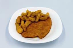 Cotoletta alla milanese con patate a spicchio