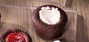 Fondant pera e cioccolato