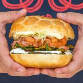 Panino tartare di salmone
