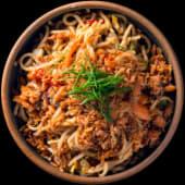 Salmon noodles