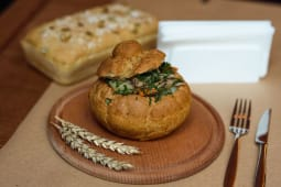 Печеня в зі рваним томленим м'ясом індички