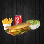 Сендвіч, картопля, салат і напій на вибір