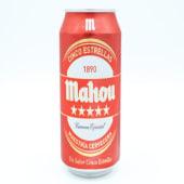 Cerveza Mahou 5 Estrellas Lata De 50 Centilitros.