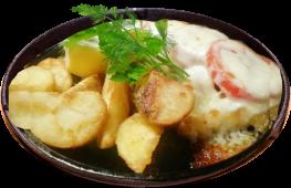 Судак запеченный под сыром и помидорами