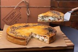 Сільський пиріг з бринзою, сиром (150г)