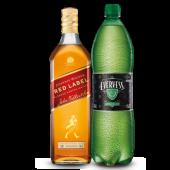 Whisky JW Red label 750 ml + Evervess 1.5 lt