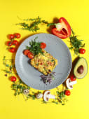 Фрітатта з цукіні і помідорами (230г)