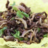 Shredded Beef With Onion Dry