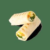Wrap de pollo al curry y arroz (caliente)