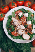 Салат Сир-курка-шпинат (300г)