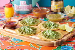 Tacos nopal con asado y queso (4 uds.)