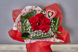 Bouquet rosas + paniculata