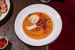 Кокосовий суп з сочевицею та хамоном (185г)