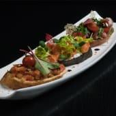 Тріо брускетт з лососем, ростбіфом і томатами (270г)