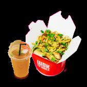 Glovo WOW: Tallarin especial pollo y bebida
