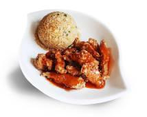 Pollo tipakay + chaufa