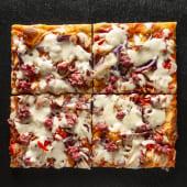 Pizza Cipolla e salsiccia (4 pzs.)