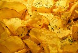 Batata Chips Caseira com Orégãos