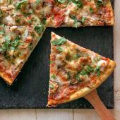 Піца Куриця з грибами шматочок