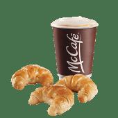 Medialunas (3 uds.) + café (14 oz.)
