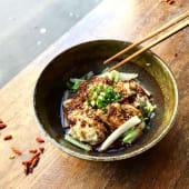 Raviolis au porc pimenté sans soupe