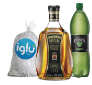 Whisky Something Special 750 ml + Evervess 1.5 lt + hielo 1.5 kg