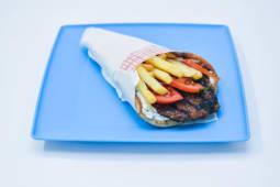 Bifteki - Burger cu vita si porc la pita