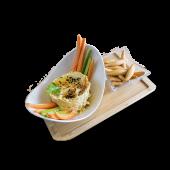 Hummus cremoso de garbanzos